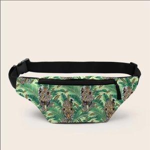 Handbags - Tropical Print Leopard Fanny Pack